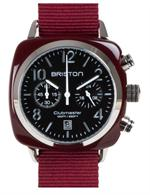 Briston Montre Clubmaster chrono date acier 40mm
