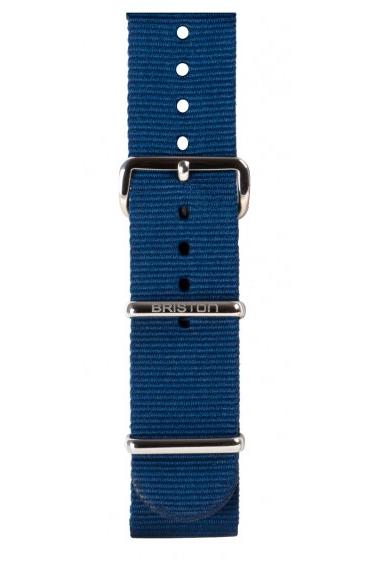 Briston / Bracelet type Nato bleu marine 280 mm