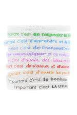 """Caroline Lisfranc Set de 10 bracelets """"L'important c'est ..."""""""