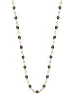 Gigi Clozeau Collier or rose et perles de résine 42 cm