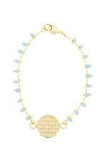 Dear Charlotte Bracelet turquoise pampille Artemis