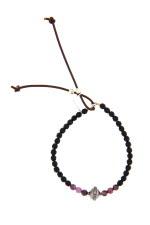 Catherine Michiels Bracelet agathe noire, rubis et diamant
