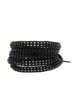Chan Luu Bracelet pierres noires