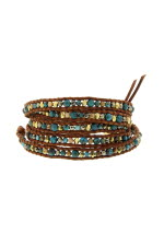 Chan Luu Bracelet turquoise et pyrite