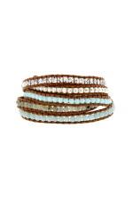 Chan Luu Bracelet Amazonite, argent et crystal