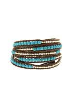 Chan Luu Bracelet turquoise et argent