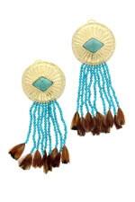 Aurélie Bidermann Boucles d'oreilles Navajo