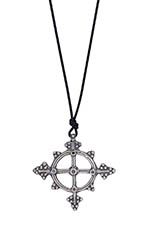 Catherine Michiels Silver Chakra Amulet with black Diamond