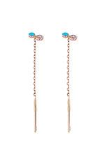 Gigi Clozeau Boucles d'oreilles dot or rose et diamant