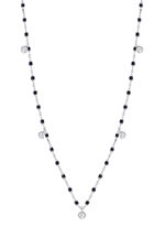 Gigi Clozeau Collier or gris, perles de résine et 5 diamants