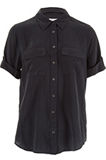 Equipment Chemise Short Sleeve Slim Signature