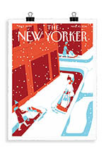 Image Republic The New Yorker 72 Steininger Snowplows 2014 56 X 76 cm