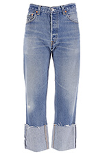 Re / Done Jean High Rise Straight Cuffed