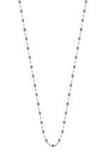 Gigi Clozeau Sautoir or rose et perles de résine 86 cm