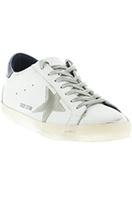 Golden Goose Sneakers Superstar White Blue Cream Sole