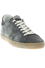 Golden Goose Sneakers Superstar Grey suède et cuir