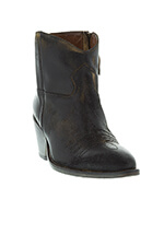El Campero Boots Alexandra Hand painted black