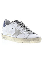 Golden Goose Superstar white blue cream sole women