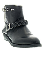 Golden Goose Boots Biker-s Black White