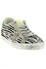 Golden Goose Sneakers Superstar Zebra Pony/ Ice star