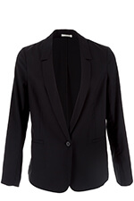 6397 Blazer Mini Lapel  black ripstop