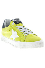 Golden Goose Sneakers May green lime suede