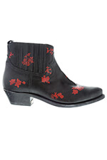 Golden Goose Boots Red Flowers