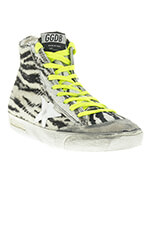Golden Goose Sneakers Francy zebra pony ice star