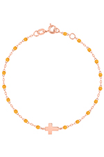 Gigi Clozeau Bracelet or rose croix
