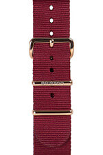 Briston Bracelet type NATO bordeaux, boucle or rose 230mm - Clubmaster Chic