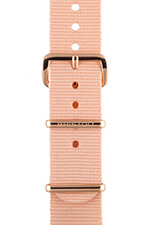 Briston Bracelet type NATO rose poudré, boucle or rose 230mm - Clubmaster Chic