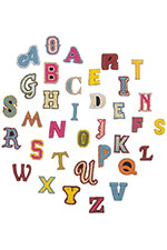 Mother Ecusson Alphabet multicolore