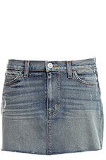 Hudson Vivid Denim Mini Skirt