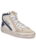 Golden Goose Sneakers Slide, crème et étoile grise