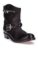 Golden Goose Boots Karen en cuir noir
