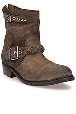 Golden Goose Boots Karen cuir suédé militaire