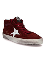 Golden Goose Sneakers Mid Star en daim bordeaux