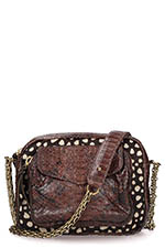 Claris Virot Sac Charly brown / Girafe