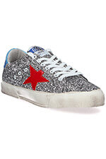 Golden Goose Sneakers May grey glitter