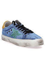 Golden Goose Sneakers May, velours bleu