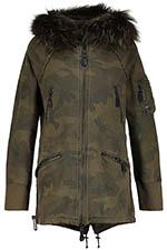 Blonde No.8 Veste longue à capuche camouflage militaire