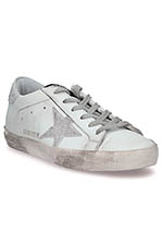Golden Goose  Sneakers Superstar, paillettes argentées