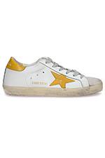 Golden Goose Sneakers Superstar, étoile et patch moutarde