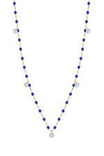 Gigi Clozeau Collier or rose, perles de résine et 5 diamants