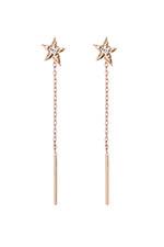 Gigi Clozeau Boucles d'oreilles étoile or rose et diamant