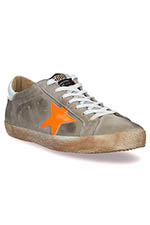 Golden Goose Sneakers Superstar, étoile orange fluo
