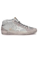 Golden Goose Sneakers Mid Star, zébré pailleté