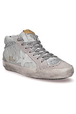 Golden Goose Sneakers Mid Star, zébré pailleté