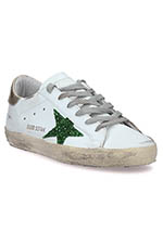 Golden Goose Sneakers patch doré étoile paillettes vertes