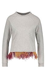 Maison Père Sweat-shirt à plumes